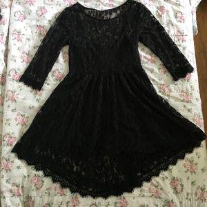 Free People Black Lace Dress Size 6